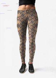 Tye dye brown - Leggings by ArJeiEmSi Design Leggings - Tye Dye Brown in Brown/Green/Red by VIDA Original Artist Tye Dye, Stockings, Leggings, The Originals, Brown, Artist, Yoga, Red, Shopping