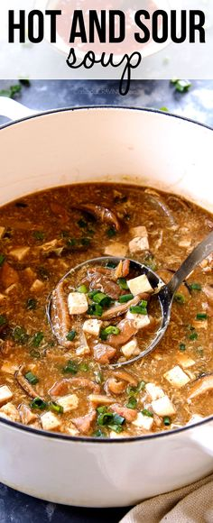 Hot And Sour Soup Is Bursting With Complex, Rich, Spicy, Savory Flavors On Your Table In 35 Minutes And You Can Customize It To Your Personal Taste Via Carlsbadcraving Easy Soup Recipes, Appetizer Recipes, Dinner Recipes, Cooking Recipes, Healthy Recipes, Appetizers, Healthy Soup, Healthy Drinks, Yummy Recipes