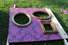 DIY Homemade open air photo booth prop display