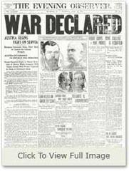 The Last Days of Mankind: July a month after Archduke Franz Ferdinand's assassination, Austria Hungary declared war on Serbia. World War One, First World, Archduke, Vintage Newspaper, Austro Hungarian, July 28, Great Words, Ferdinand, I Love Books