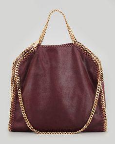 Falabella Fold-Over Shoulder Bag, Plum - Stella McCartney