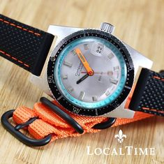 """1970's CORTEBERT Ref. 286201 """"Subaqua"""" 20ATM Vintage Diver Watch ETA Cal. 2472 - PROFESSIONALLY RESTORED AND FULLY SERVICED IN OUR SPA"""