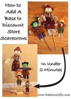Removable Scarecrow Stands (AKA Get To Know Your Drill) via www.TheKimSixFix.com