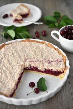 Tarta wiśniowa z kokosem Food Cakes, Tiramisu, Camembert Cheese, Cake Recipes, Baking, Breakfast, Ethnic Recipes, Cook, Diy