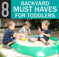 8 backyard must have toys for toddlers for fun summer play.