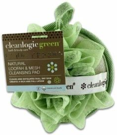 Cleanlogic Green Natural Loofah & Mesh Cleansing Pad by Cleanlogic Green. $3.99. Use the looped mesh side to create a full and rich lather.. Use the loofah side to gently exfoliate and soothe your skin.. Deeply cleanses and revives dull, dry skin.. The Cleanlogic Natural Loofah & Mesh Cleansing Pad gently cleanses and exfoliates your skin for the ultimate clean feeling.