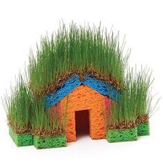 Gardens meet gingerbread houses! A great way to get kids active in the garden.