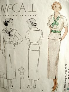 8206 The middy top in non-nautical colors from the or how to enjoy a scarf. middy top in non-nautical colors from the or how to enjoy a scarf. Vintage Dress Patterns, Blouse Vintage, Clothing Patterns, 1930s Fashion, Art Deco Fashion, Vintage Fashion, Fashion Fashion, Moda Vintage, Vintage Mode