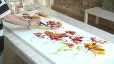 The making of  Abstract Summer  Acrylic Speed Painting demo by Zacher-Finet