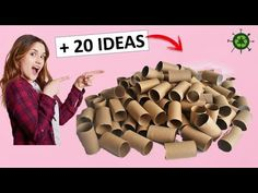 20 incredible ideas with toilet paper rolls recycling, related videos and comments Toilet Roll Craft, Toilet Paper Roll Art, Tissue Paper Roll, Rolled Paper Art, Toilet Paper Roll Crafts, Craft Stick Crafts, Diy Paper, Craft Ideas, Diy Home Crafts