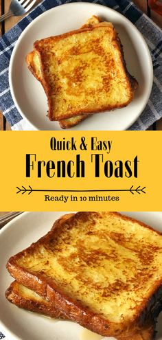 Easy French Toast- Fluffy french toast made easy and in just 10 minutes. It uses only a few simple ingredients which can be easily found in your pantry. So try this recipe now and prepare a heavenly breakfast/ brunch for your loved ones.