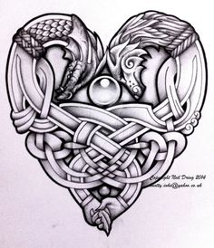Embracing Wolf and Dragon by Tattoo-Design on DeviantArt: More