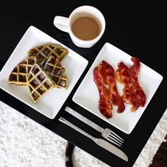 The perfect morning with @jennybalesphoto's crispy Classic Bacon & Matcha Green Tea Waffles! #TheBaconParty Feature