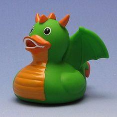 Rubber Duck Dragon green Bath Duck Duckshop