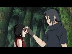 Sasuke let Sarada see her uncle Itachi for the first time - YouTube