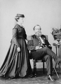 HIM Emperor Pedro II of Brazil and daughter Her Imperial Highness Isabel, Princess Imperial of Brazil