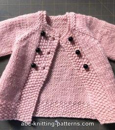 Teddy Bear Knitting Pattern, Baby Cardigan Knitting Pattern Free, Knitted Doll Patterns, Knitted Dolls, Knitting Patterns, Knitting Dolls Clothes, Baby Doll Clothes, Doll Clothes Patterns, Clothing Patterns
