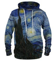 The Starry Night hoodie Material: Cotton, Polyester Cut: Unisex Origin: Made in EU Availability: Made to order Van Gogh, Adidas Originals, Nike Jacket, Motorcycle Jacket, Under Armour, Unisex, Hoodies, Night, Cotton