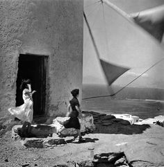 """"""" """"Windmill"""", photo by Ernst Haas, Greece, 1952 """" Magnum Photos, Old Pictures, Old Photos, Famous Photos, Color Photography, Street Photography, Vintage Photography, Film Photography, Landscape Photography"""