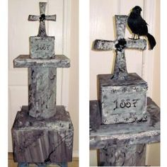 Not Your Ordinary Homemade Tombstone: How to Make a Tombstone Using Cardboard Boxes