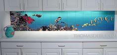 Beautiful idea for a kitchen backsplash!