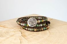 "Armband ""Nature"" Fair Trade, Bracelets, Nature, Men, Jewelry, Fashion, Rhinestones, Beads, Wristlets"