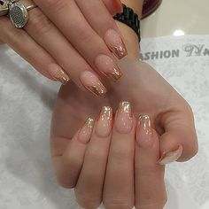Sheer nude & chrome #miniballerina #nails #nailsonpoint pretty