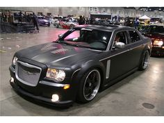 Flat black modified Chrysler 300c