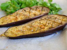 Aubergine toute simple grillée au four | Aux Fourneaux