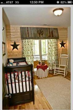 Rustic babys room
