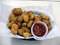 Always a crowd favorite: our original batter fried cheese curds.  Have some tonight at Rocky's Supper Club in Stoddard, WI