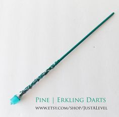 Silver Floss Harry Potter Inspired Wand Slytherin by JustALevel