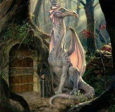a dragon must go in the door in the tree dammit!