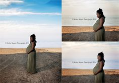 Maternity, photos, pictures, photography, pregnant, pregnancy, baby belly, outdoors, park, mother, beach, sand, water, lake, clouds, sky, dress
