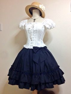 Classic lolita. Summer. Cute straw hat
