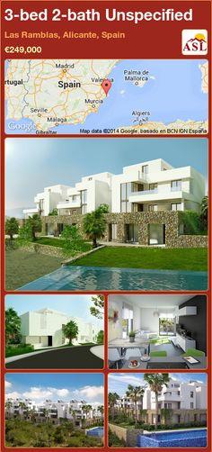 3-bed 2-bath Unspecified in Las Ramblas, Alicante, Spain ►€249,000 #PropertyForSaleInSpain