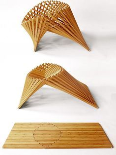 Rising furniture | #design Robert van Embricqs at Salone Satellite 2013 @iSaloni #wood #milandesignweek #mdw13