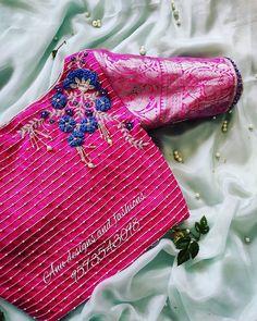 Blouse Designs High Neck, Simple Blouse Designs, Stylish Blouse Design, Fancy Blouse Designs, Wedding Saree Blouse Designs, Pattu Saree Blouse Designs, Half Saree Designs, Saree Embroidery Design, Maggam Work Designs