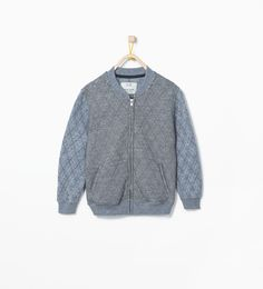 Contrasting quilted sweatshirt-Boy-NEW THIS WEEK | ZARA United States