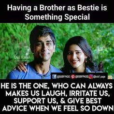 Tag-mention-share with your Brother and Sister 💙💚💛🧡💜👍 Thoughts On Brother, Brother Sister Love Quotes, Brother And Sister Relationship, Brother And Sister Love, Raksha Bandhan Quotes, Breakup Humor, Sibling Quotes, Good Tattoo Quotes, Funny Quotes