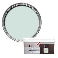 V33 Easy Sky Blue Satin Bathroom Paint 2.0L | Departments | DIY at B&Q