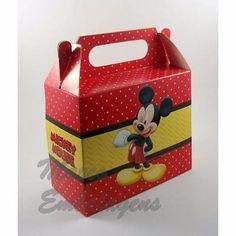 16 Caixinha Surpresa Lembrancinha 8 Minnie Vermelha 8 Mickey - R$ 16,00 em Mercado Livre