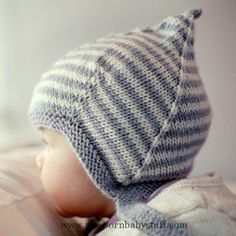 Baby Knitting Patterns Logan - A Vintage Style Pixie Hat