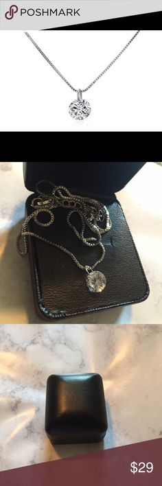 2.00 CTTW Swarovski white gold element neckless A single Swarovski element crystal on this beautiful neckless. Eye catching piece that won't overpower your outfit. Super classy  brand new but no tag Swarovski Jewelry Necklaces
