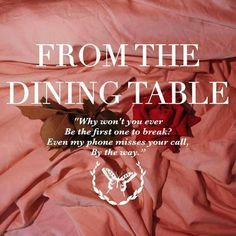 From the dining table