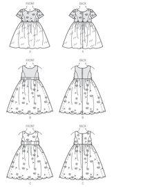 V9072 Children's/Girls' Dress | Easy