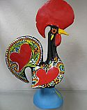 I grabbed this from Neal's uncle's just thinking it looked cool, little did I know it is for luck! Portuguese good luck rooster for the kitchen