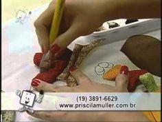 Ateliê na TV - Pano para Fogão com Aplicação de Galinha Caipira - Priscila Muller - YouTube
