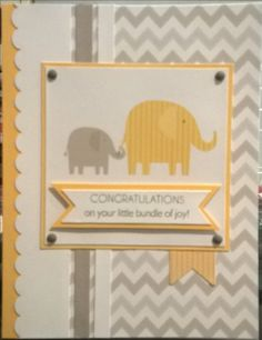 CTMH Georgie paper and PML cards; baby card