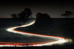 1X - Country road at night by Przemysław Wielicki